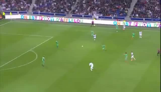 But Rachid GHEZZAL (89') / Olympique Lyonnais - AS Saint-Etienne (2-0) -  / 2016-17 GIFs