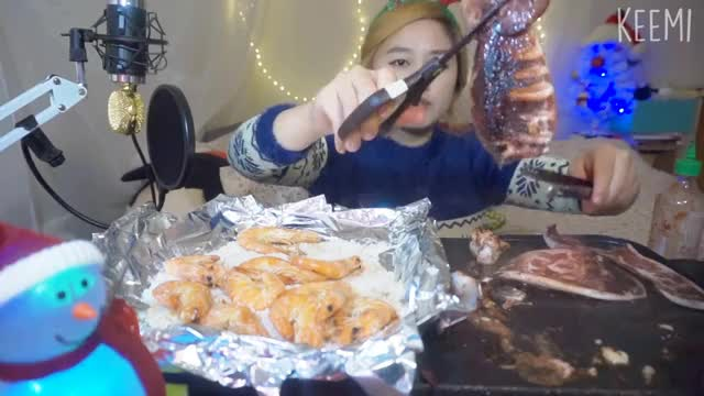 Watch and share Grilled Calamari + Salted Shrimp Mukbang/eating Channel GIFs on Gfycat