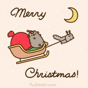 cat, cats, christmas, pusheen, pusheen cat, pusheen the cat, Merry Christmas Pusheen GIFs