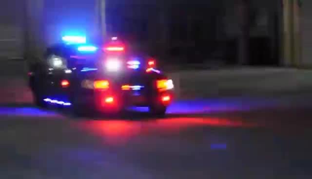 cop car, ufo, ufo cop GIFs