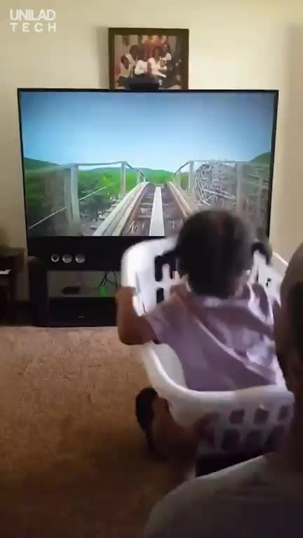 Loving dad makes daughter her own roller coaster GIFs