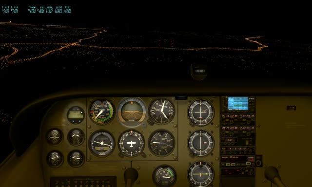 Watch and share Arriving Nashville Area Cessna Skyhawk Night IFR Panel View GIFs by illumino on Gfycat