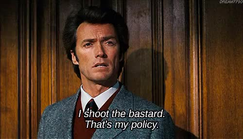 Watch and share Clint Eastwood Gifs GIFs and Harry Callahan GIFs on Gfycat