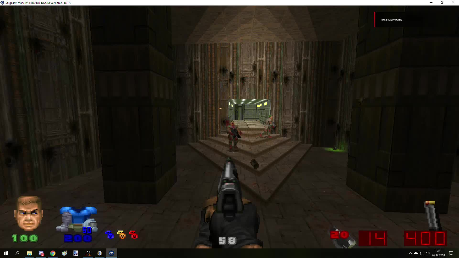 Freedoom Pistol For Brutal Doom Demo Video