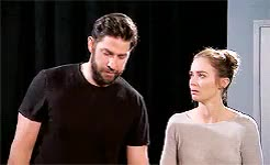 Watch this emily blunt GIF on Gfycat. Discover more *, emily blunt, gifs, jimmy kimmel, john krasinski GIFs on Gfycat
