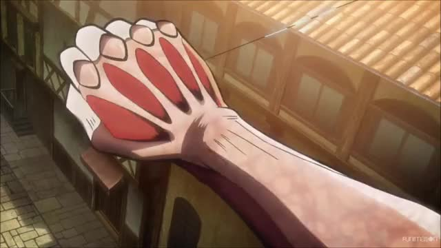 Watch this attack on titan GIF by Attack on Titan (@attackontitan) on Gfycat. Discover more Anime, Attack on Titan Episode 24, AttackonTitan, AttackonTitanEpisode24, Dark Fantasy, Funimation, Shingeki no Kyojin, ShinkgekinoKyojin, Shounen, Shounen Anime, post apocalyptic, steampunk GIFs on Gfycat