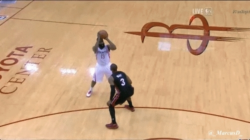 nba, nbacirclejerk, James Harden drive. Wade is down and out. (reddit) GIFs