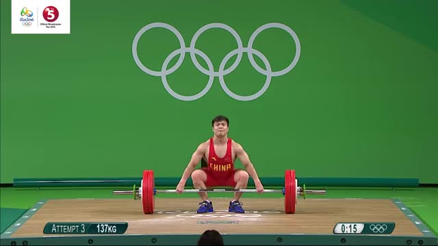 Watch Highlights | Weightlifting: Men's 56 kg | Olympic Games Rio 2016 | TV5 GIF on Gfycat. Discover more funny, o16:event=wlm05610a, o16:lang=en GIFs on Gfycat