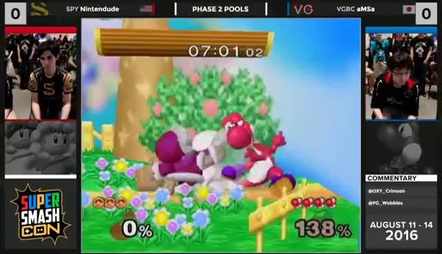 Watch SSC16  - SPY | Nintendude (ICs) vs VGBC | aMSa (Yoshi) Winners - Melee GIF on Gfycat. Discover more related GIFs on Gfycat
