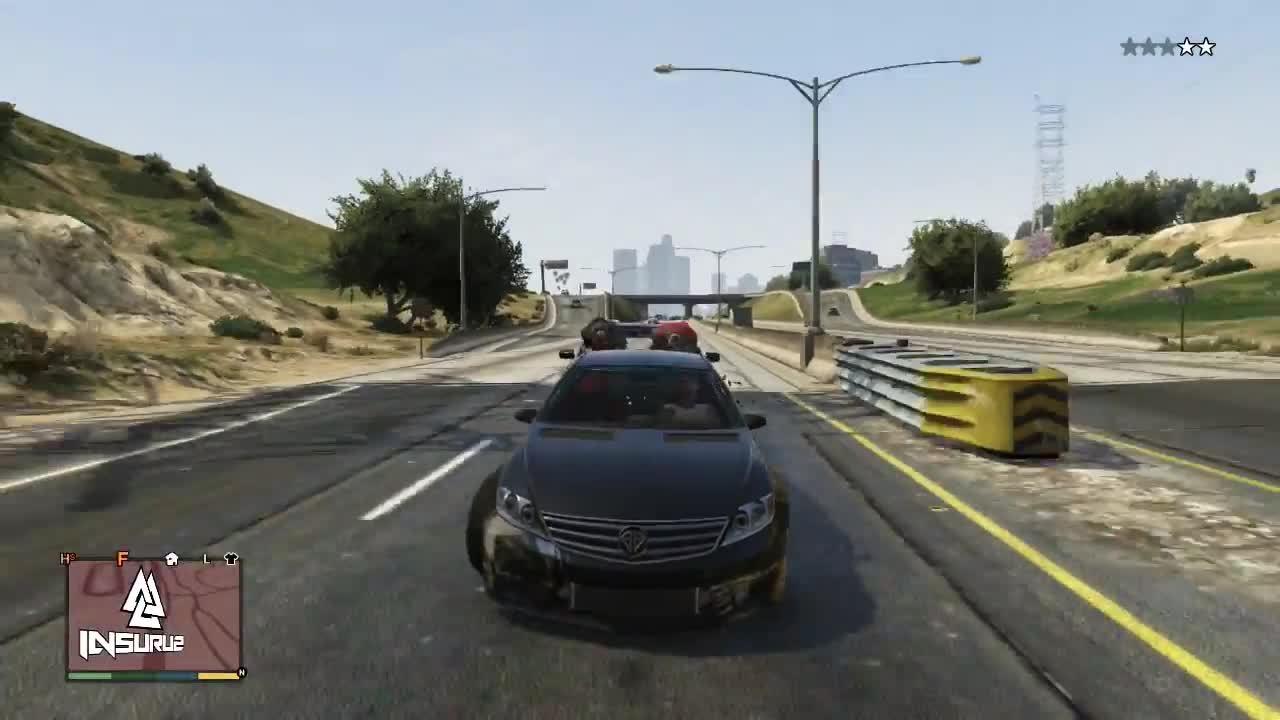 GTA 5 - The Perfect Brake Check ! GIFs