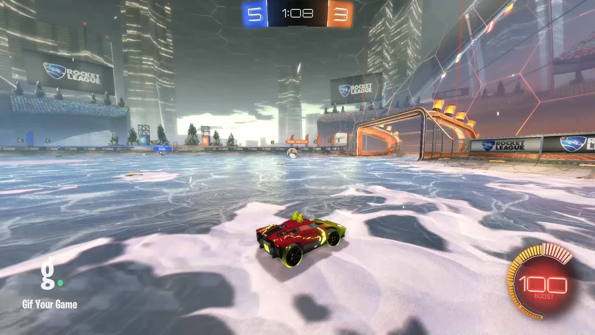 Gif Your Game, GifYourGame, Goal, Rocket League, RocketLeague, SeñorMañoso, Goal 9: SeñorMañoso GIFs