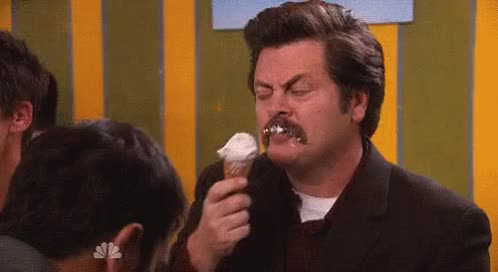 Watch and share Nick Offerman GIFs and Ice Cream GIFs on Gfycat