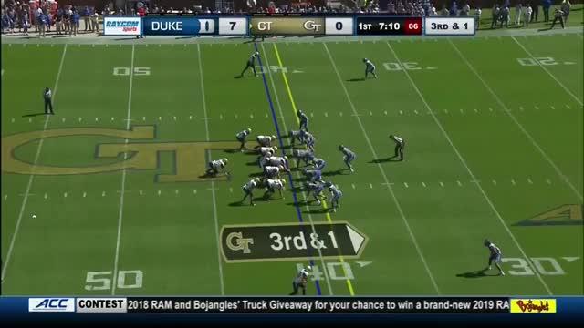 Watch Rocket Toss stuffed by Duke GIF on Gfycat. Discover more football GIFs on Gfycat