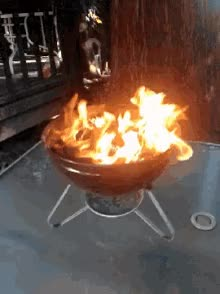Watch and share Grill Fire GIFs on Gfycat