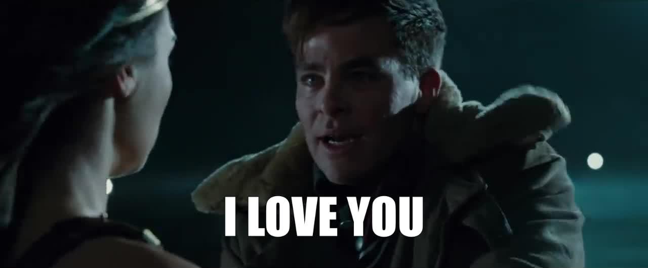 chris pine, gal gadot, i love u, i love you, love, love you, wonder woman, I Love You Wonder Woman GIFs