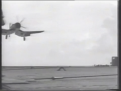 aviationgifs, wwiiplanes, Slow mo carrier landing GIFs