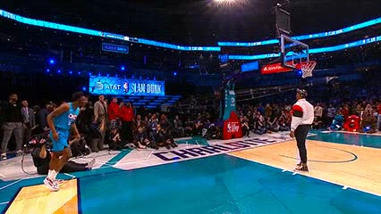 Watch and share Hamidou Diallo Ft. Russell Westbrook — 2019 Slam Dunk Contest GIFs by Off-Hand on Gfycat