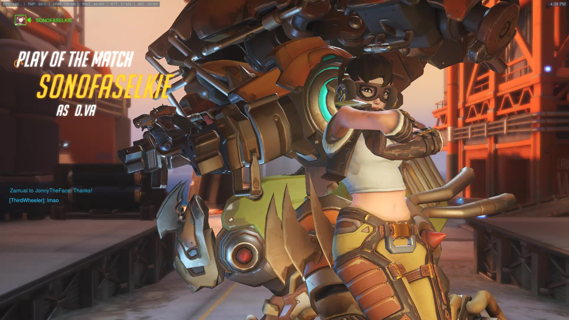 overwatch, potg, D.Va 4k Ultimate+Ultimate Denial GIFs