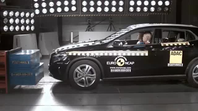Watch and share Euro NCAP Crash Test Of Mercedes Benz GLA-Class 2014 GIFs on Gfycat