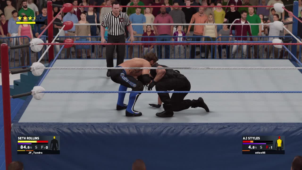 Funny, WWEGames, AJ Styles with a Curb Stomp to... GIFs