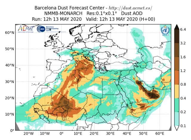 Watch and share 2020051312-3H SDSWAS NMMB-BSC-v2 OPER-OD550 DUST GIFs by The Watchers on Gfycat
