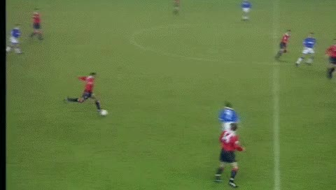 Watch and share Mark Hughes. Everton - Manchester United. 30.11.1993 GIFs by fatalali on Gfycat