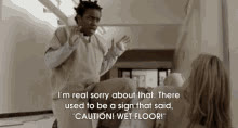 Caution. Wet Floor. GIFs