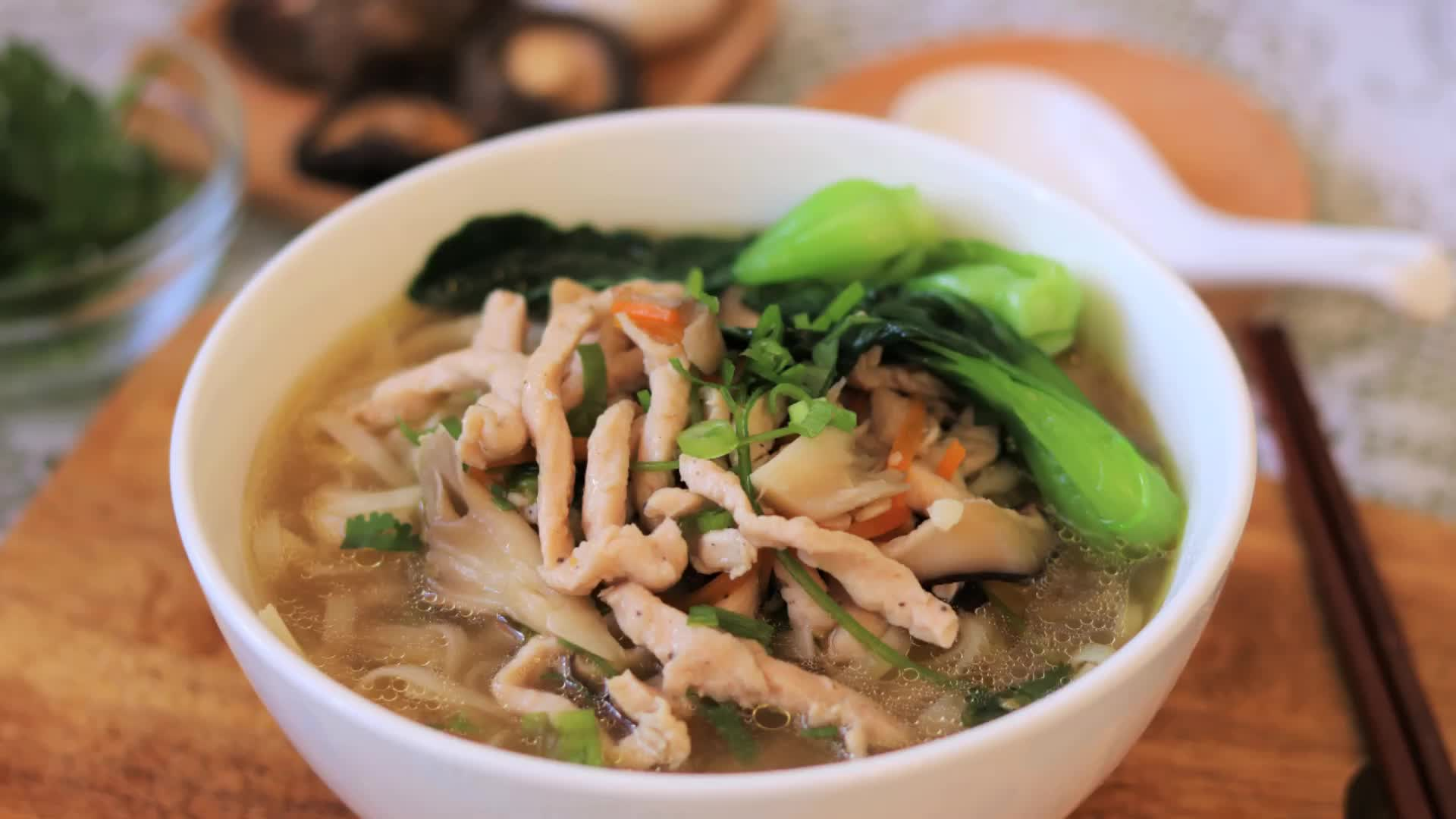 cooking, food, food recipes, recipe, recipes, Chicken mushroom noodle soup - gif GIFs
