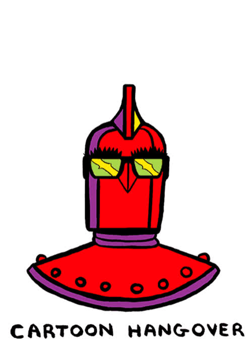 Cartoon Hangover, James Kochalka, SuperFuckers, gif, superf*ckers, This is James Kochalka's custom designed melting robot head. Underneath, Omnizod, the Lord of Dimension Zero and destroyer of... GIFs