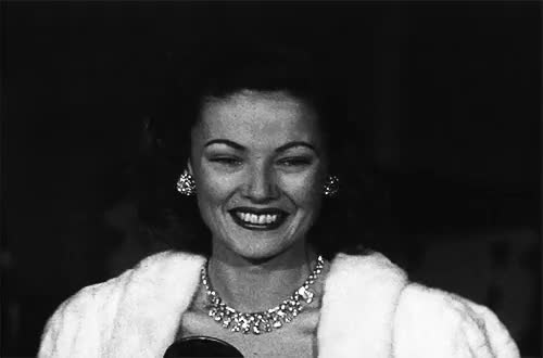 Watch Gene Tierney at the premiere of The Razor's Edge (1946) GIF on Gfycat. Discover more 1946, gene tierney, my gif, razor's edge*, the razor's edge GIFs on Gfycat