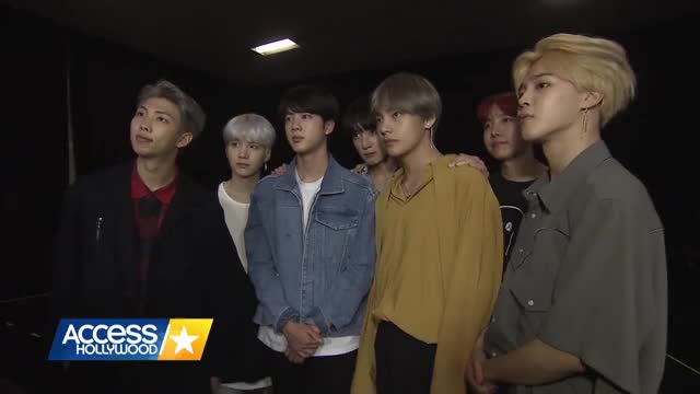 Watch and share Access Hollywood GIFs and Bangtan Boys GIFs by Koreaboo on Gfycat