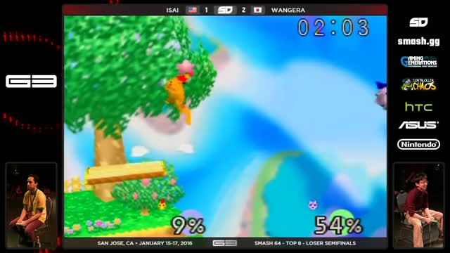 Watch GENESIS 3 - Isai (Fox) vs Wangera (Jigglypuff) - SSB64 - Losers Semis GIF on Gfycat. Discover more gaming, smashbros, tournaments GIFs on Gfycat