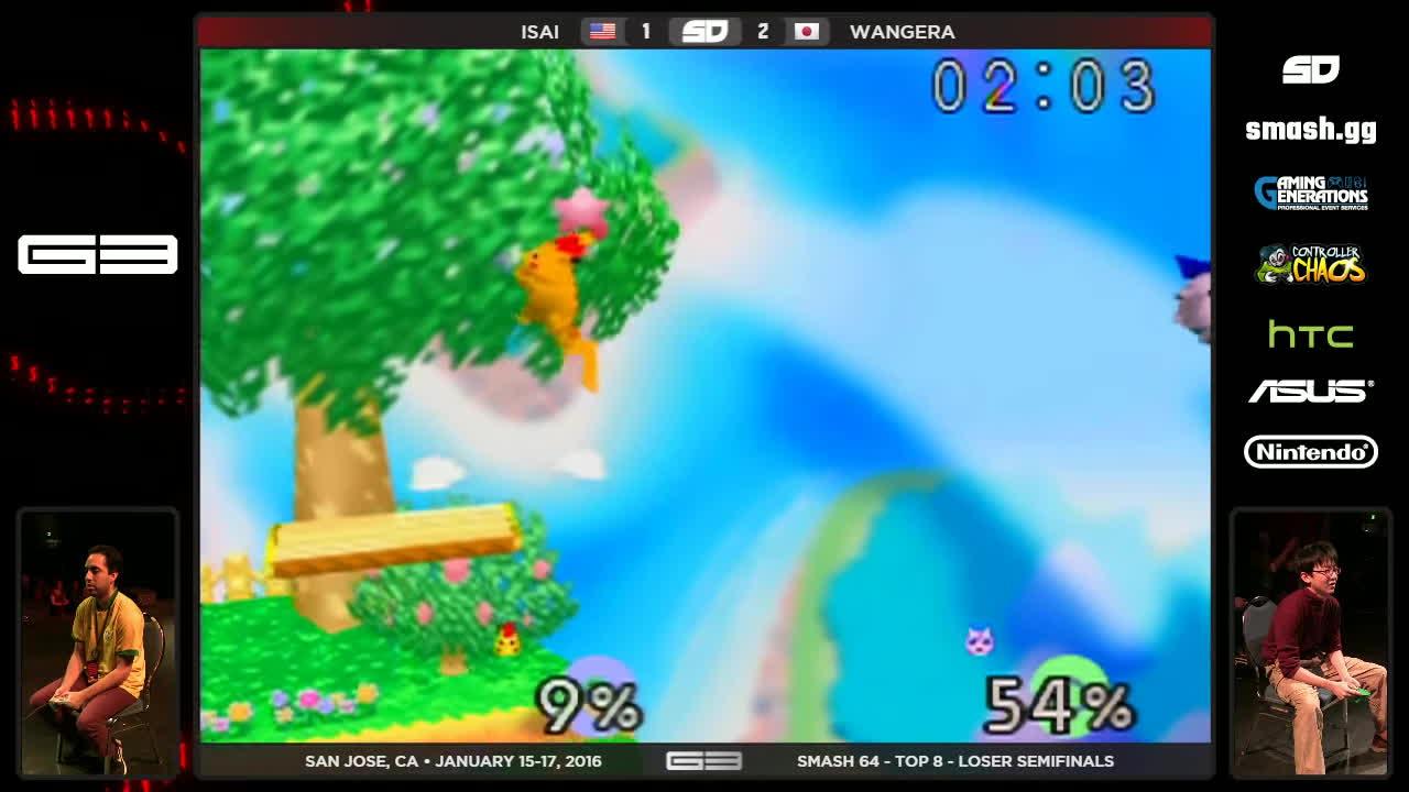 gaming, smashbros, tournaments, GENESIS 3 - Isai (Fox) vs Wangera (Jigglypuff) - SSB64 - Losers Semis GIFs