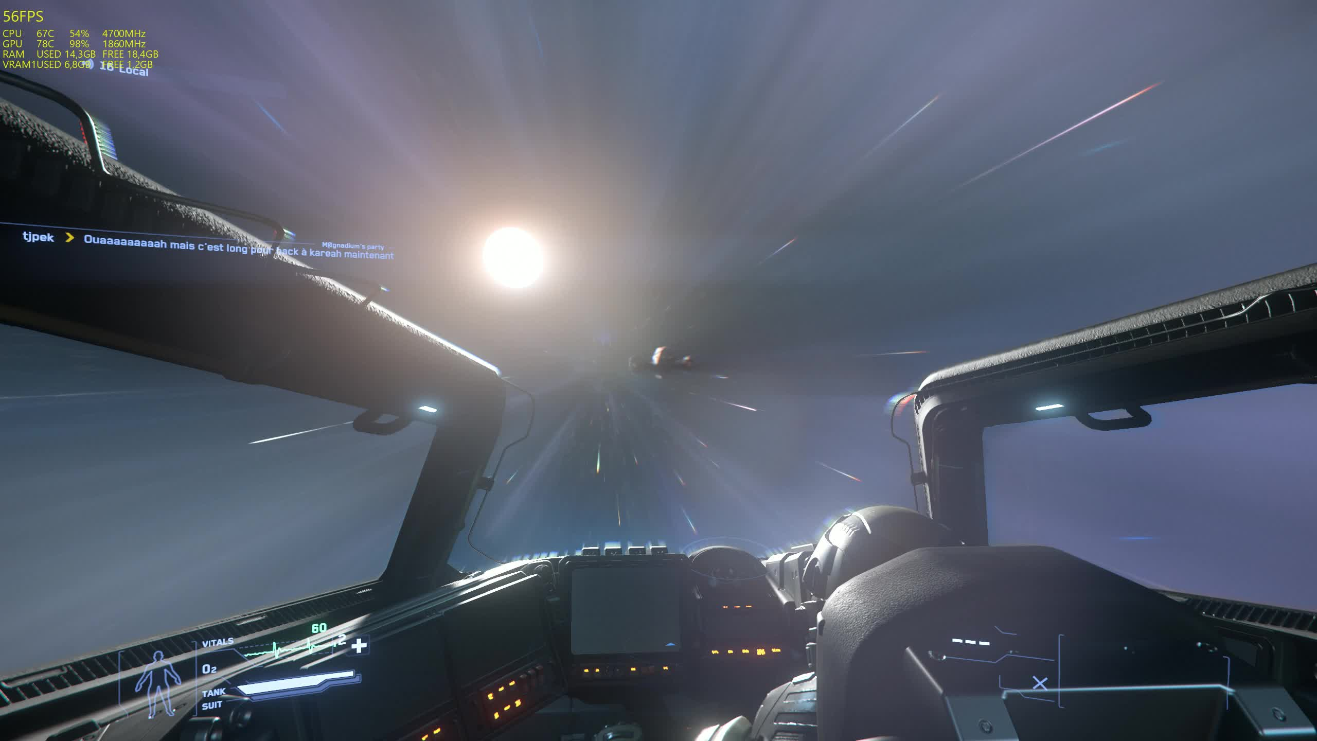 destiny2, star citizen, Can see a Reclaimer next to us in quantum jump GIFs