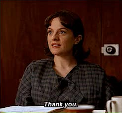 Watch this elisabeth moss GIF on Gfycat. Discover more 3.03, elisabeth moss, elizabeth moss, fat, gif, harry crane, mad men, madmen, patio, peggy olsen, pepsi patio, rich sommer, someone telling you you used to be fat, television, thank you GIFs on Gfycat