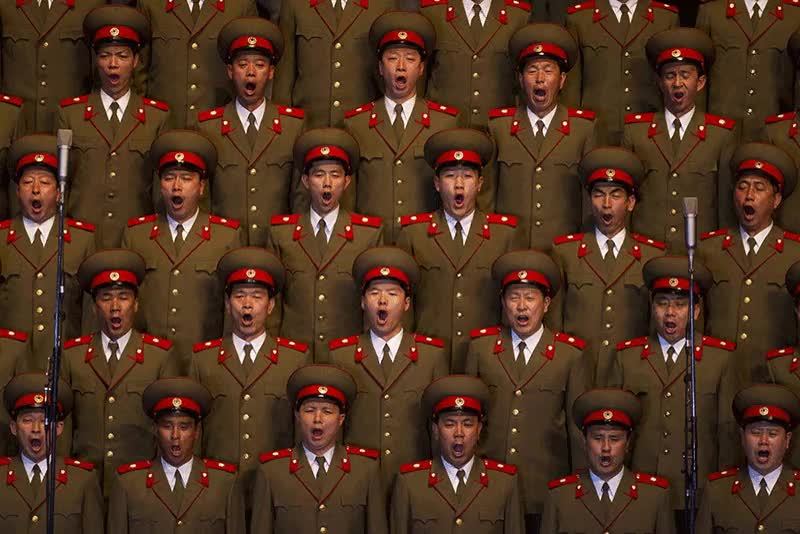 North Korean choir : photoshopbattles GIFs