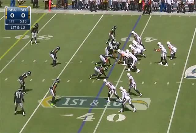 Watch and share Danny Woodhead Gains 15 Yards Against The Seahawks GIFs by jenerationx on Gfycat