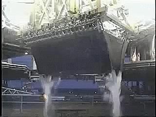 SpaceGifs, spacegifs, Linear Aerospike engine firing during tests (reddit) GIFs