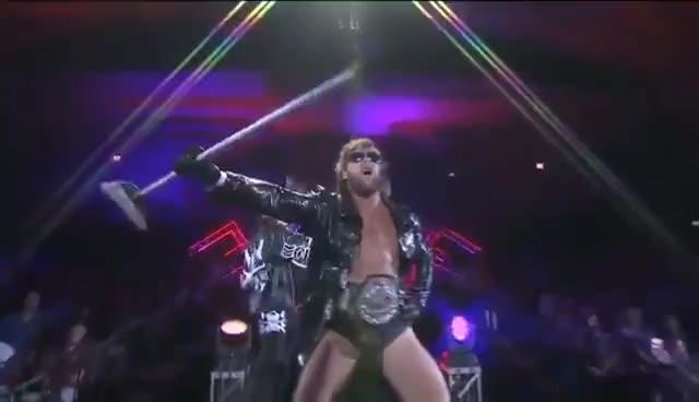 Kenny Omega entrance NJPW Power Struggle 2015 GIFs