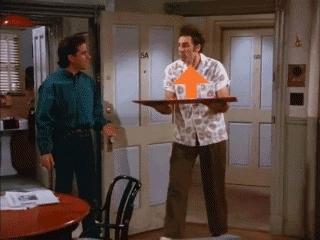 todayilearned, Kramer Newman Risk Seinfeld up GIFs