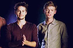 Watch and share Thomas Sangster GIFs and Dylan X Thomas GIFs on Gfycat