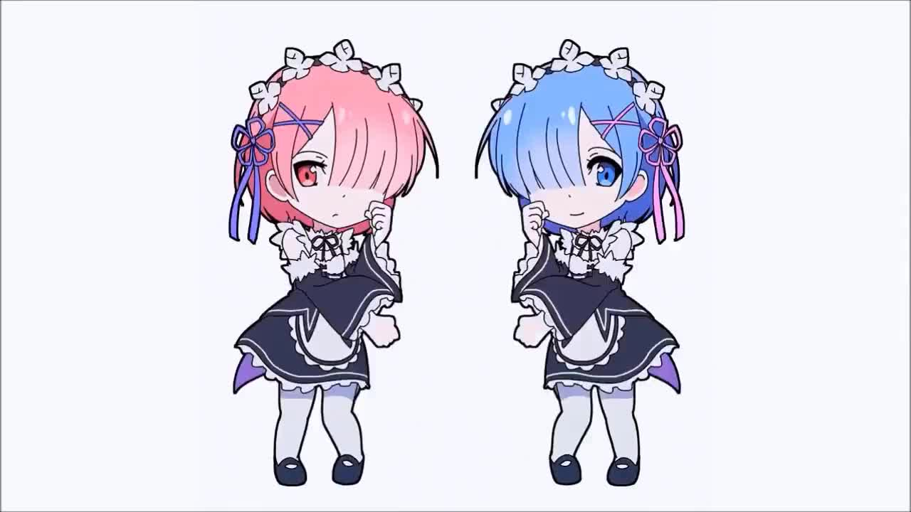 Rem and Ram Dances To Heathens GIFs