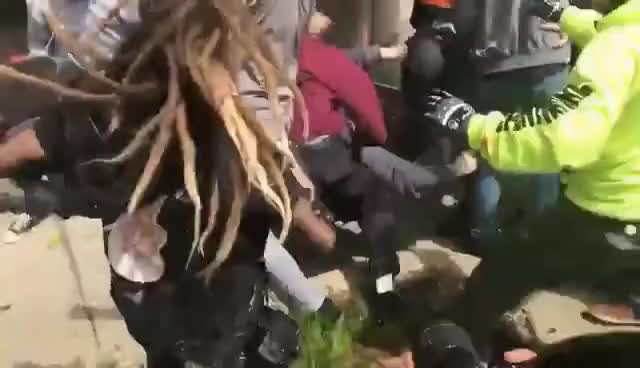 Watch Trump Supporter Knock Out Antifa in Berkeley GIF on Gfycat. Discover more related GIFs on Gfycat