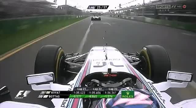 Watch and share 2014 Australian GP - Bottas On Kvyat GIFs by aamantubillah on Gfycat