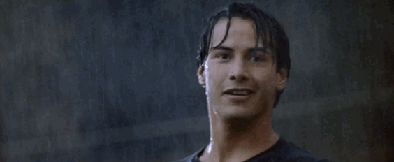 GfycatDepot, gfycatdepot, Thumbs up smile in the rain [Keanu Reeves] (reddit) GIFs