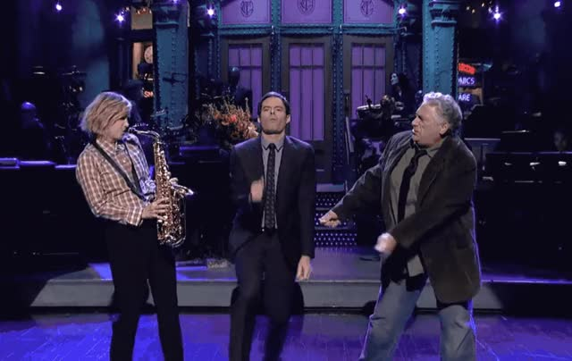 Watch this bill hader GIF by GIF Queen (@ioanna) on Gfycat. Discover more bill, celebrate, dance, dancing, excited, fierstein, hader, harvey, kristen, live, night, party, saturday, saxophone, snl, twist, wiig, woohoo, yay, yeah GIFs on Gfycat