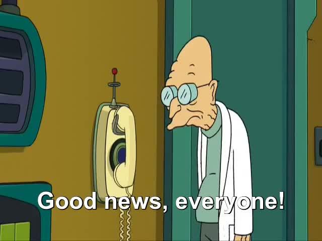 Watch good news everyone! GIF by Amanda (@aml1992) on Gfycat. Discover more gfycat GIFs on Gfycat