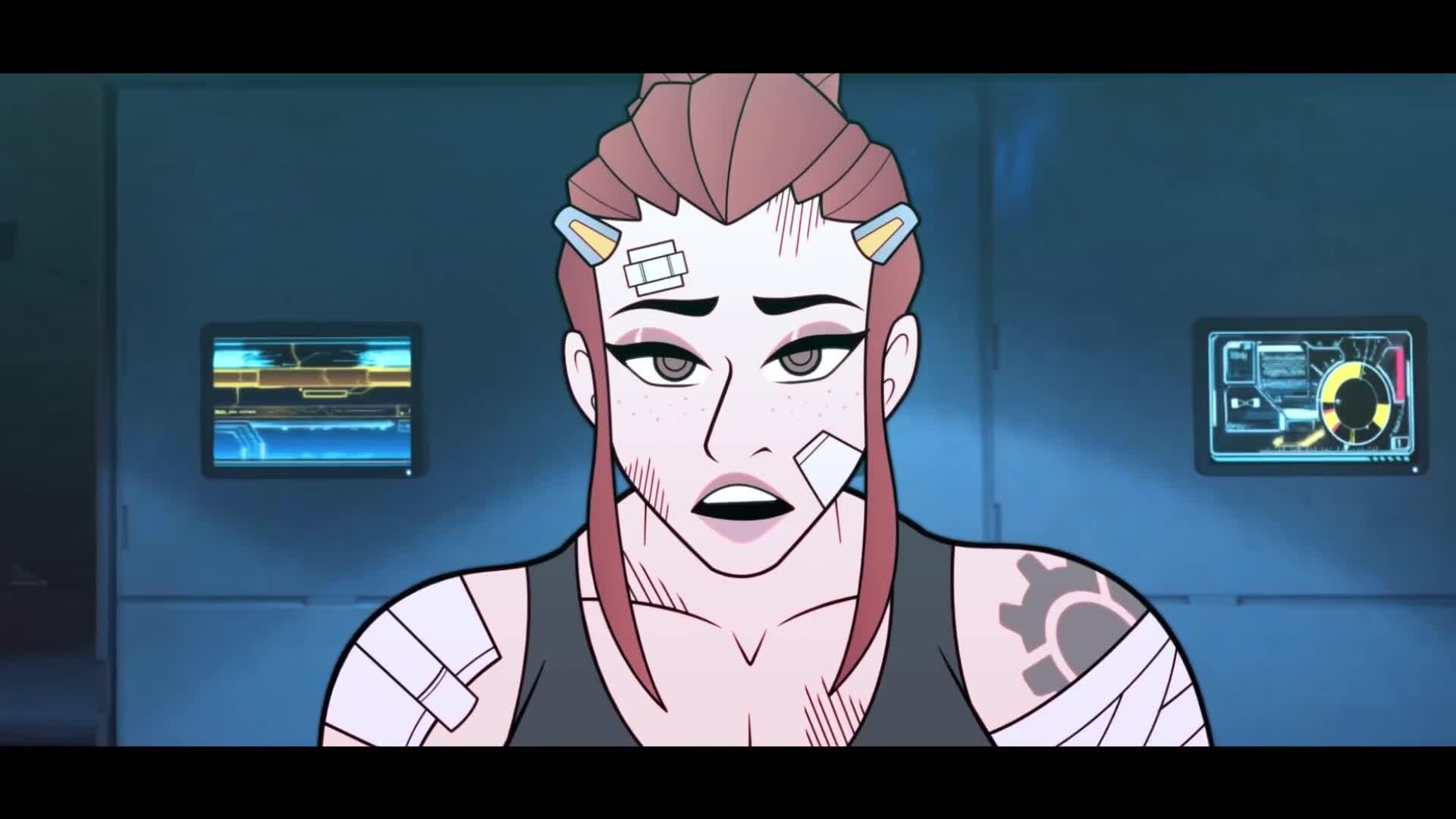 Brigitte, Brigitte Lindholm, Cartoon, Overwatch, animated, animation, gaming, Brigitte Gets Nerfed: Overwatch Animated GIFs
