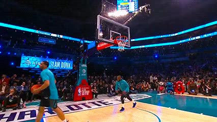 Watch and share Miles Bridges Ft. Kemba Walker — 2019 Slam Dunk Contest GIFs by Off-Hand on Gfycat