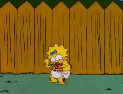 Watch and share Maggie Simpson Dance GIFs on Gfycat